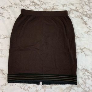 St.John Collection Wool Knit Pencil Skirt